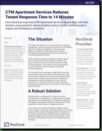 Residesk CTM Case Study
